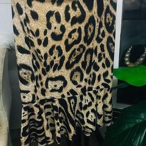 🆕️Leopard Print Strechy Peplum Skirt